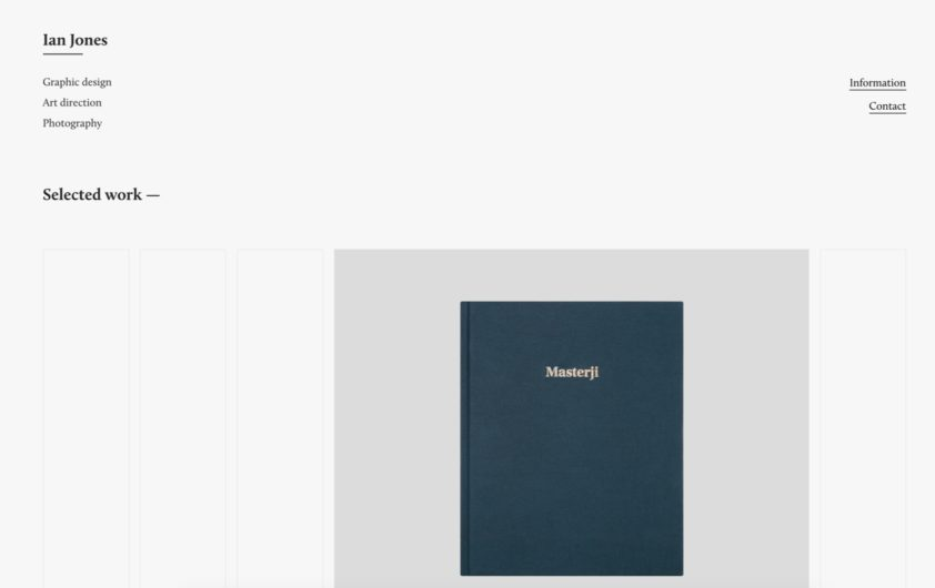 Siiimple A Minimalist Website Gallery